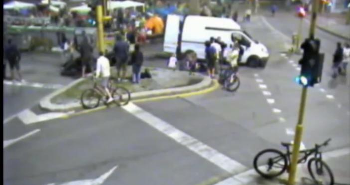 Кадър и видео:МВР, You tubeМВР отново показа снощния протест в