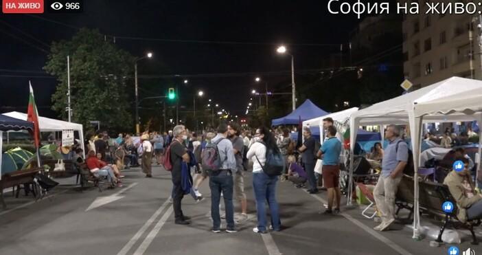 кадър и видео:Иво Божков (Yvo Bojkov), фейсбукПротестът на Орлов мост