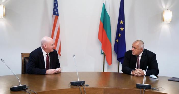Снимка: БойкоБорисов, фейсбукПремиерът Бойко Борисовсе срещна с помощник държавния секретар