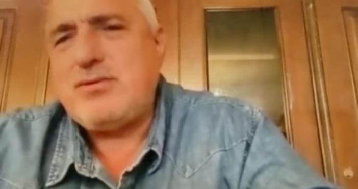Кадър Б.Борисов ФББолният от коронавирус премиер Бойко Борисов направи знаково