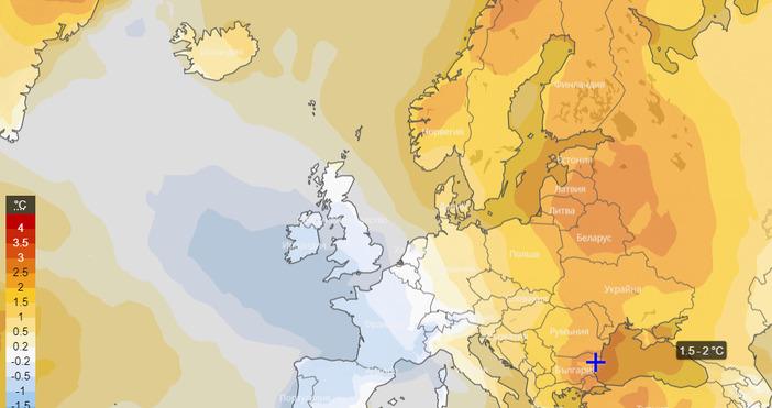 Снимка: Фейсбук/Meteo BalkansЗа климатична аномалия с предстоящи високи температури в