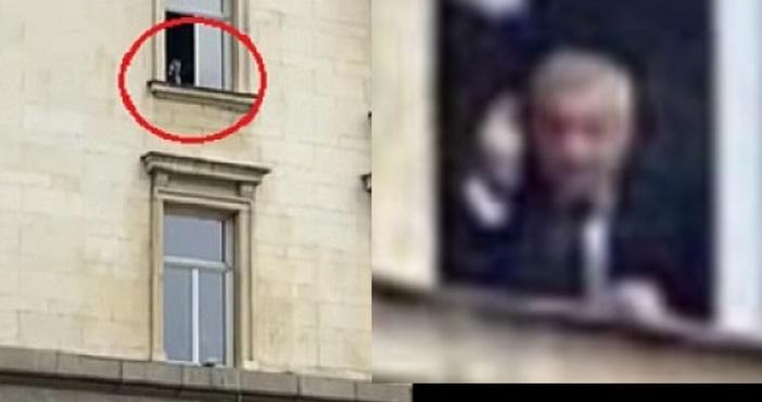 Валери Симеонов бе заснет от прозореца на министерски съвет.Кадърът на