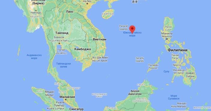 Кадър: Google MapsКитай предупреди американски военен кораб, плаващ в близост