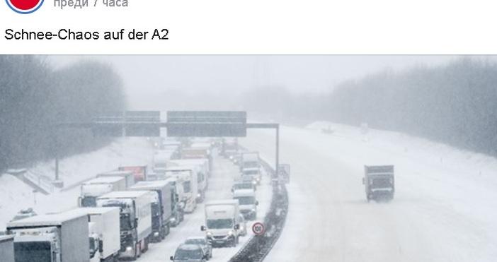 Кадърntv Nachrichten, ФейсбукСнежен капан в Германия. Падналият сняг предизвика значителни