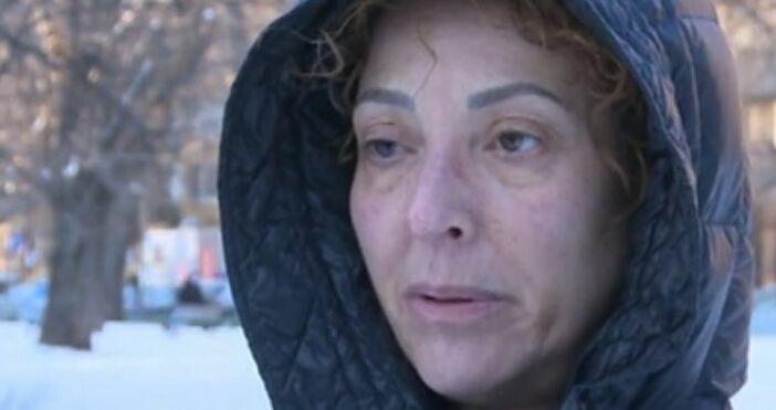 Кадър БТВЖената, пострадала след като ледена висулка се стовари върху