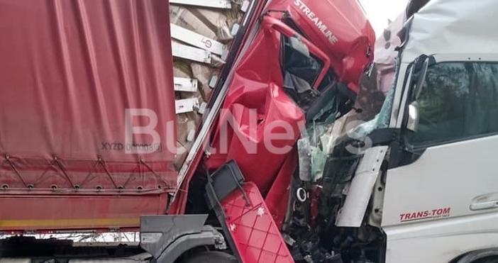Два тира се удариха челно на главния път Е-79 между