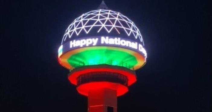 Кадри: Фейсбук/МВнРКулата Атакуле - символ на турската столица, бе осветена