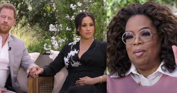Стоп Кадър CBS , Oprah With Meghan And Harry First