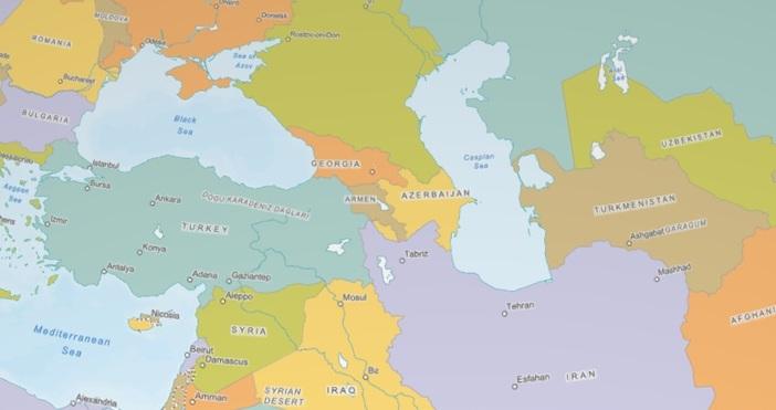 Кадърearth3dmap.comЗа пръв път от Студената война насам светът е разделен