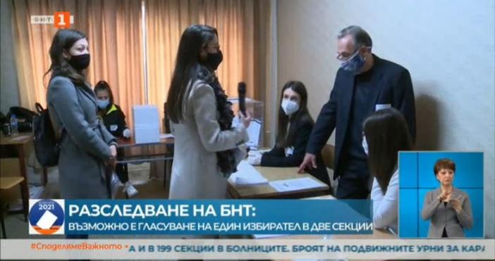 Кадър: БНТРазследване на екипа на БНТ установи, че гласуване на