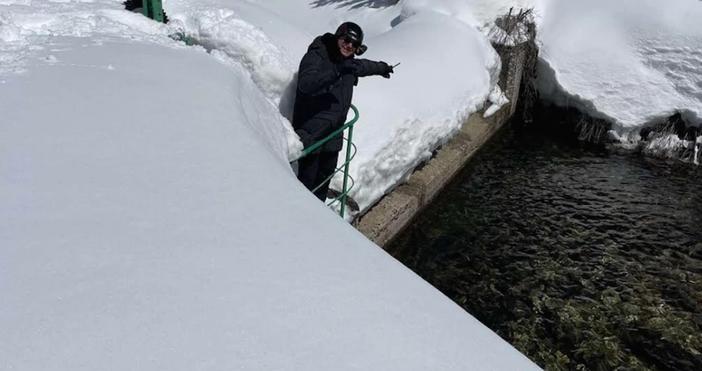 Снимка МОСВЕмил Димитров взе мерки заради очакването снеготопене.Министърът на околната