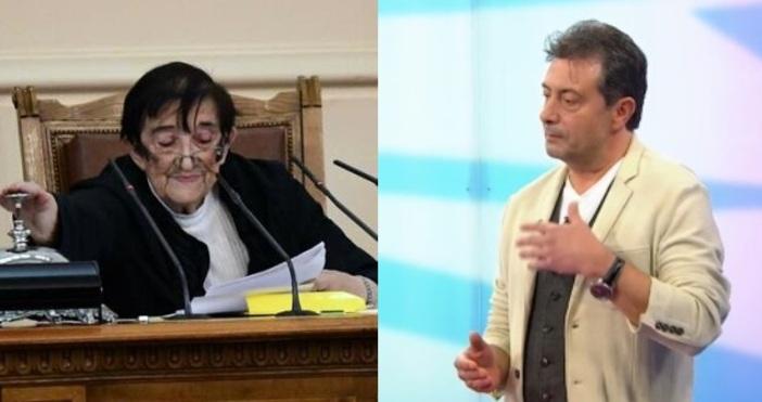 Редактор:кадри: Булфото, Нова телевизияПочетният председател на Народното събрание Мика Зайкова