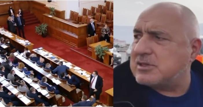 Редактор:кадри: Народно събрание, Фейсбук/Бойко БорисовПремиерът в оставка Бойко Борисов беше