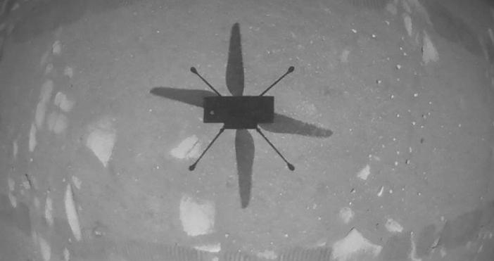 Кадър и видео NASA/You tubeНАСА съобщи за историческо постижение.Кратък полет
