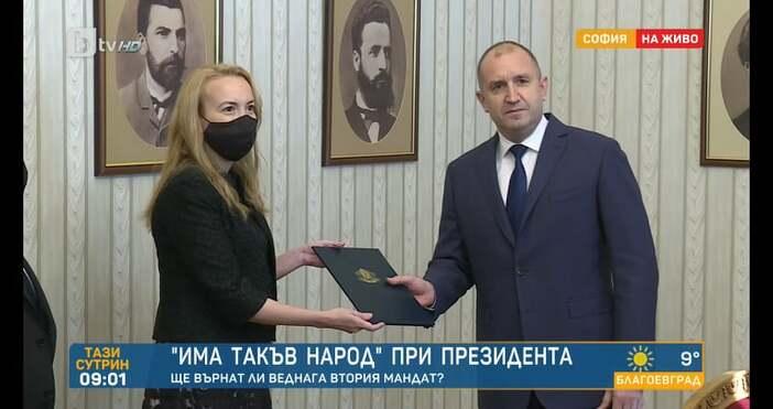 Редактор: ВиолетаНиколаеваe-mail:Президентът връчи мандата на Антоанета Стефанова, тя го върна.
