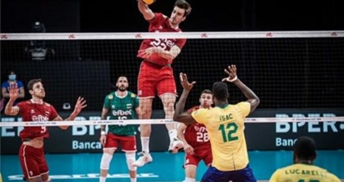 """Снимка: FIVB""""Лъвовете"""" не успяха да се противопоставят на олимпийския шампион"""
