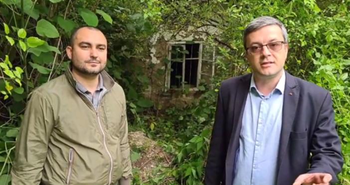 кадър ГЕРБ, фейсбукВ репортерска роля влязохаТома Биков и Александър Иванов