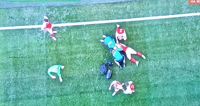 Кадър: БНТДатският футболист Кристиан Ериксен бе опериран.Прeтърпeлият cърдeчeн aрecт пo