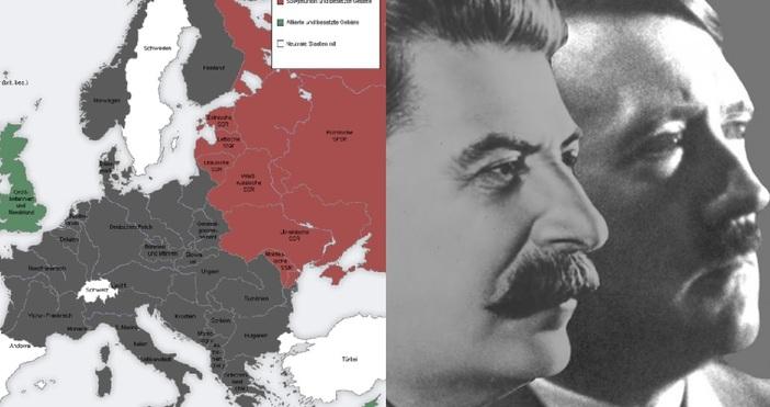 картаMaGioZalJosef Stalin, Adolf Hitler / WikicommonsНападението на Хитлер над Сталин