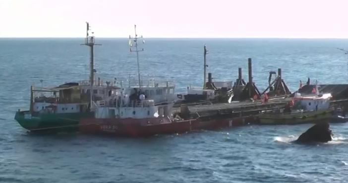 Корабът се премести с няколко метра.